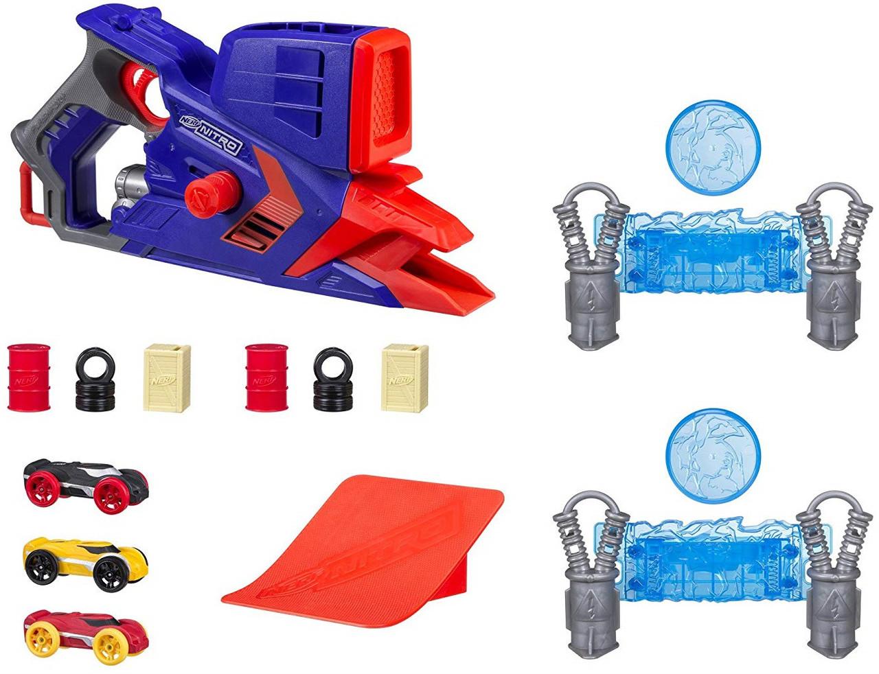 Набор Бластер Нёрф стреляет машинками, Nerf Nitro FlashFury Chaos, Hasbro, Оригинал из США