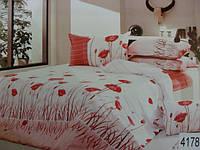 Сатиновое постельное белье полуторка ELWAY 4178