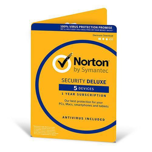 Антивирус Norton Security Deluxe для 5 ПК на 3 года (электронная лицензия)