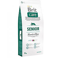 Сухой корм для пожилых собак всех пород Brit Care Senior Lamb & Rice, 12 кг