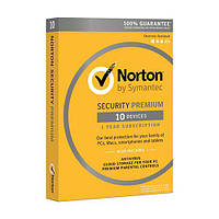 Антивирус Norton Security Premium для 10 ПК на 1 год (электронная лицензия)