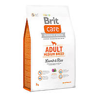 Сухой корм Brit Care Adult Medium Breed Lamb & Rice для средних пород собак, 3 кг