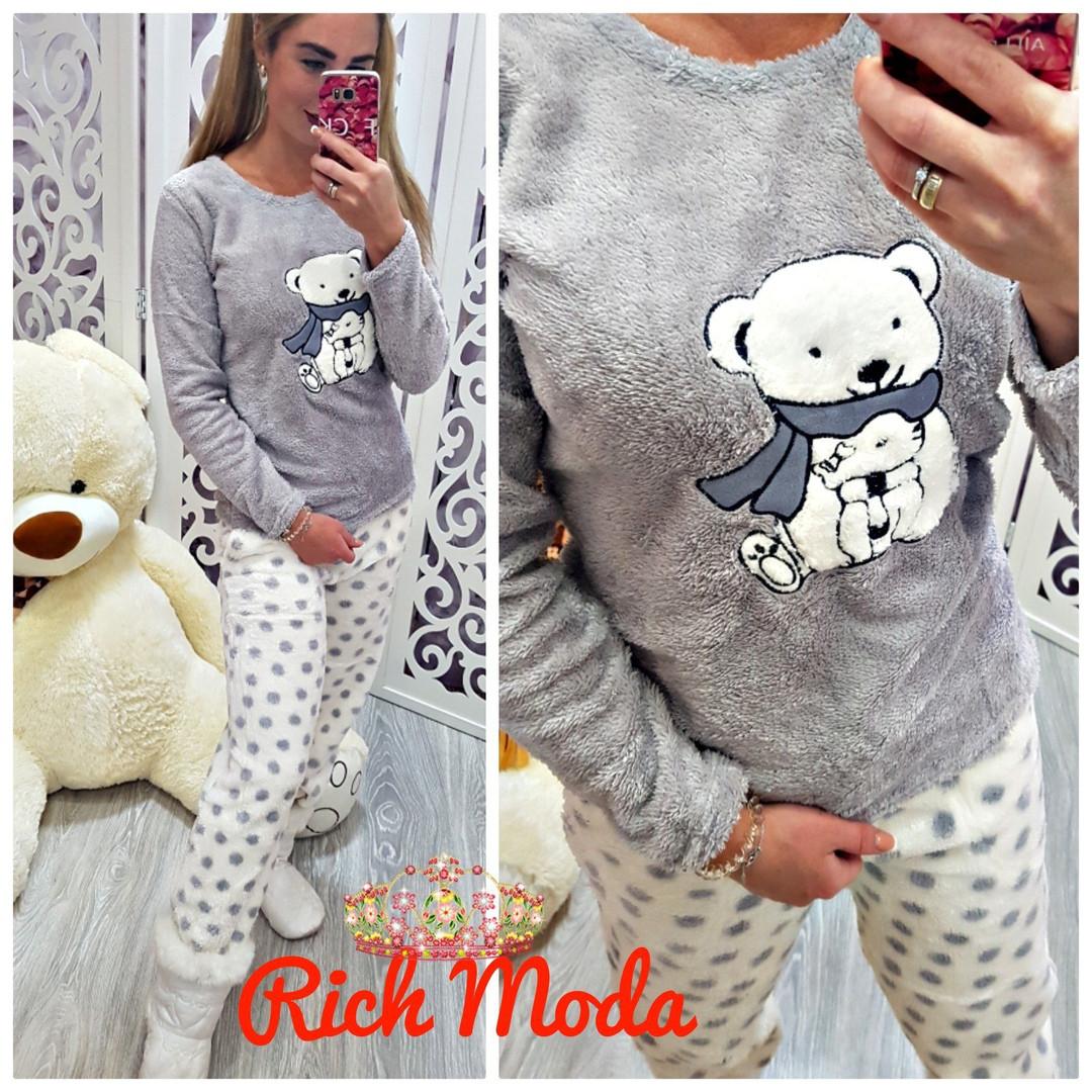 5b9253015e2a Махровая женская пижама Турция зима 2019 — купить недорого в ...