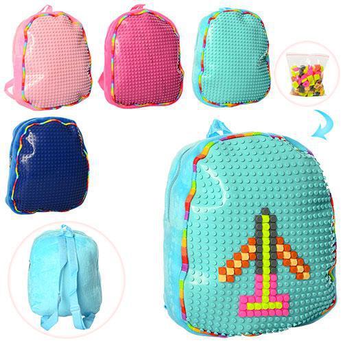 Рюкзак детский цвета в ассортименте 30-24--8см, мягкий