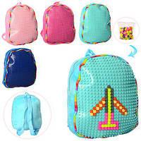 Рюкзак детский цвета в ассортименте 30-24--8см, мягкий, фото 1
