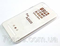 Чехол для Lenovo Vibe C A2020 / a2020a40 силиконовый ультратонкий прозрачный