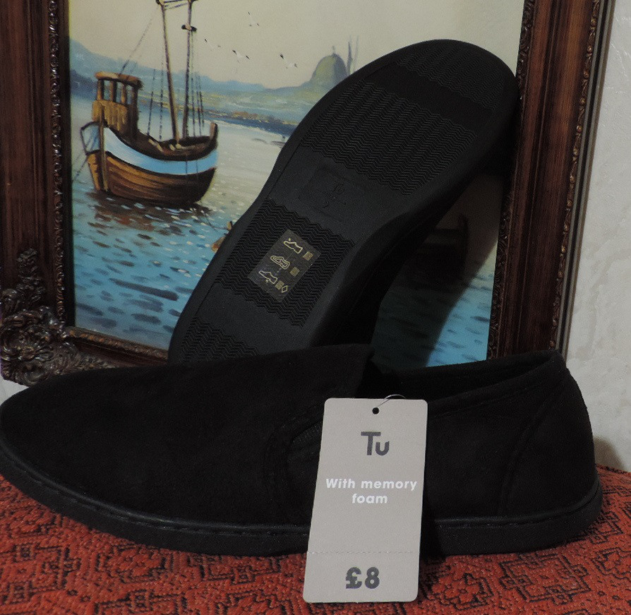Мужские слипоны (слиперы) бренда Tu (Англия). Slippers мокасины (тапочки бархатные).