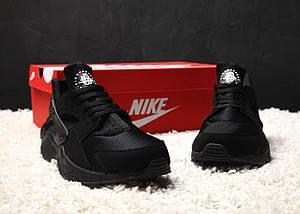 Мужские и женские кроссовки Nike Air Huarache Black, фото 3