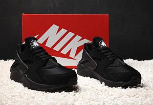 Мужские и женские кроссовки Nike Air Huarache Black, фото 2