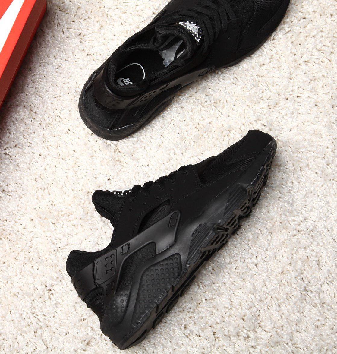 Мужские и женские кроссовки Nike Air Huarache Black