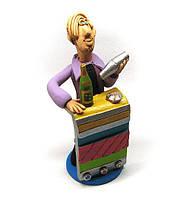 Сувенирная статуэтка Бармен керамика