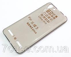Чехол для Lenovo K5 / K5 Plus / A6020 / A6020a40 силиконовый ультратонкий прозрачный серый