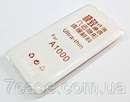 Чехол для Lenovo A1000 / A1000m Vibe A силиконовый ультратонкий прозрачный