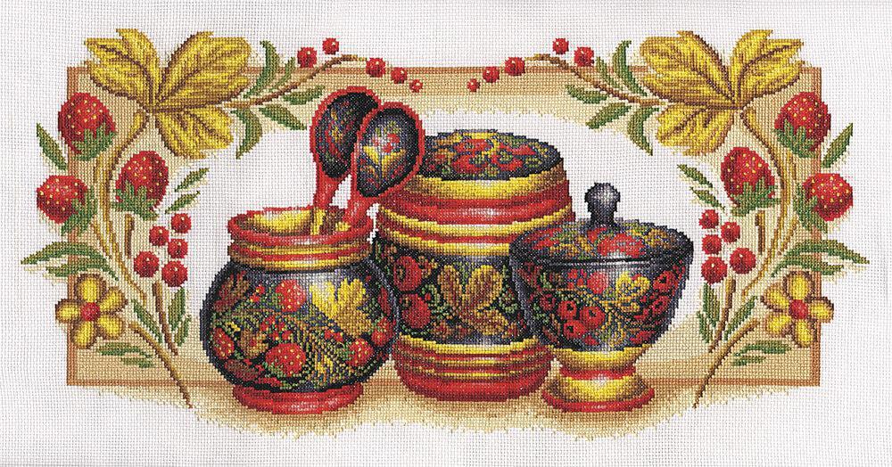Набор для вышивки крестом Panna НХ-0311 «Хохлома»