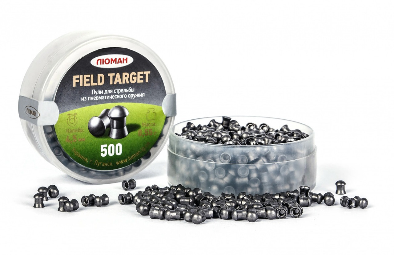 Пули для пневматического оружия Люман Field Target 0,55 гр, 500 шт