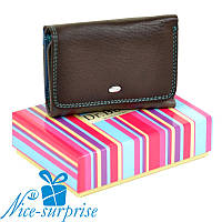 Женский кожаный кошелёк Dr. Bond WRS-4 coffee (серия Rainbow), фото 1