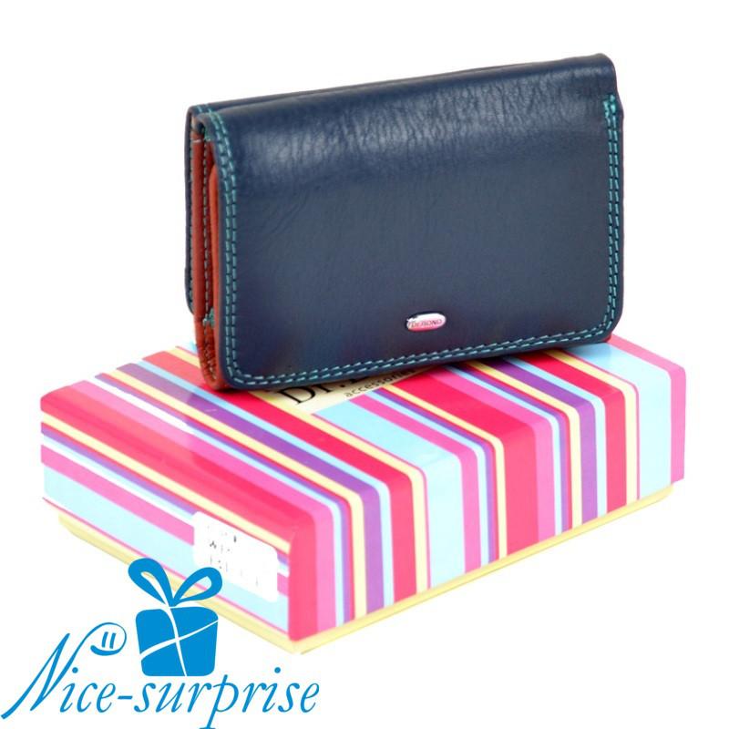 ddd7186dc48d Женский кожаный кошелёк Dr. Bond WRS-4 blue - Купить женский кожаный ...