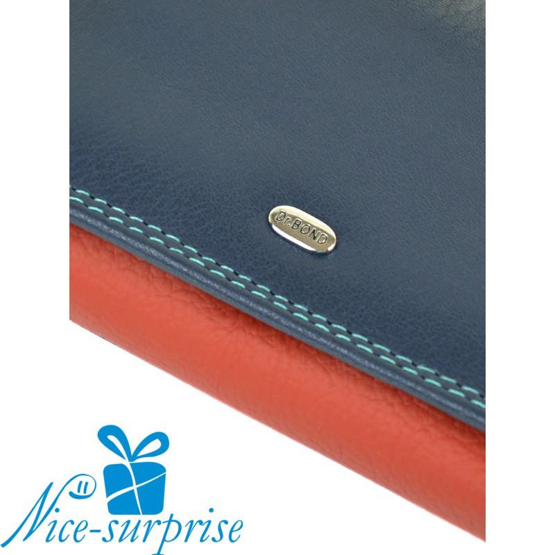 b38de4ba167d Женский кожаный кошелёк Dr. Bond WRS-4 blue (серия Rainbow), цена 374 грн.,  купить в Одессе — Prom.ua (ID#579799035)
