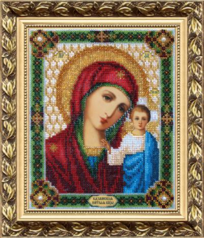 Набор для вышивки бисером Чарівна Мить Б-1002 «Икона Божьей Матери Казанская»