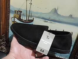 Мужские слипоны (слиперы) бренда Tu (Англия). Slippers мокасины (тапочки бархатные). 44