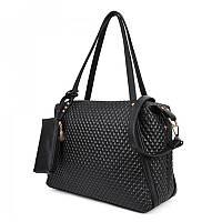 Женская сумка TRAUM с косметичкой Черный (7241-10)