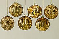 Набор новогодних шаров из 6-ти шт золотое стекло d10см 1007030