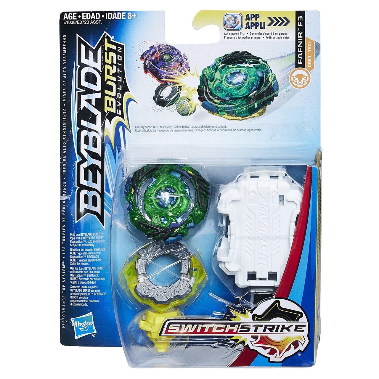 HASBRO Бейблэйд Фафнир F3 Эволюция, Beyblade Burst Evolution SwitchStrike Fafnir F3, оригинал из США