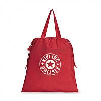 Женская складная сумка Kipling NEW HIPHURRAY L FOLD Lively Red со шнурком  22л (KI2635 49W) 653db14a02f