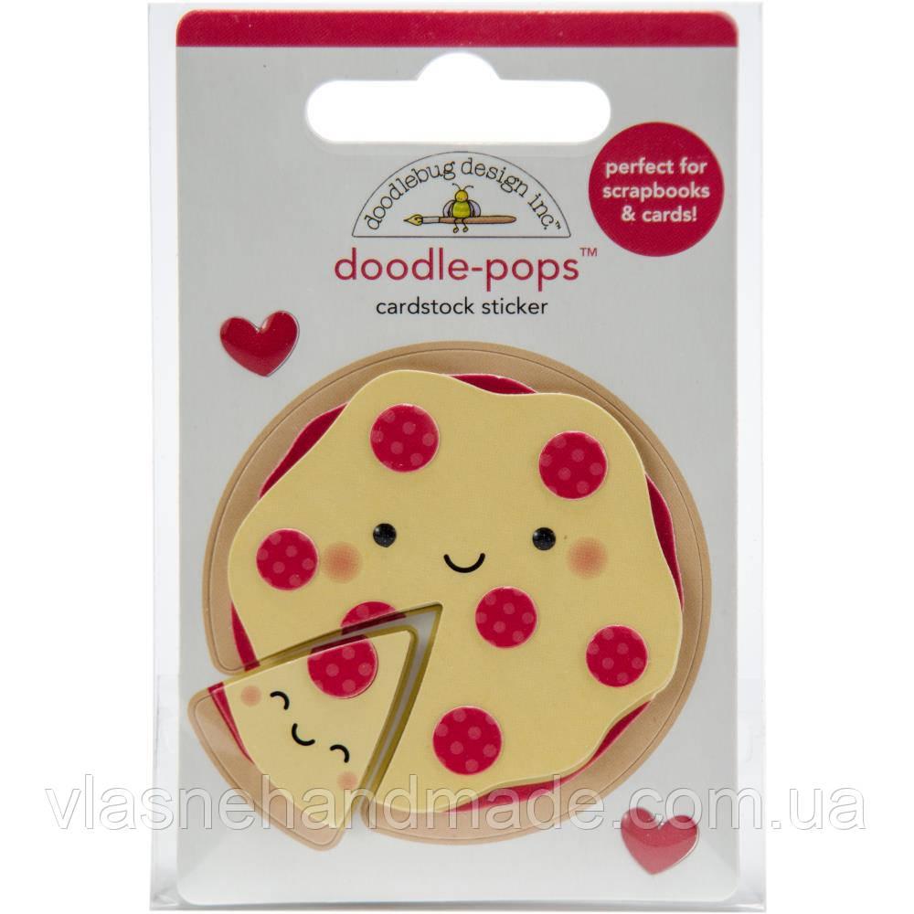Наклейка 3D - Pizza Love - Doodlebug