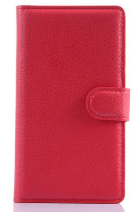 Кожаный чехол-книжка для Sony Xperia E4 E2115 красный, фото 2