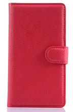 Кожаный чехол-книжка для Sony Xperia E4 E2115 красный