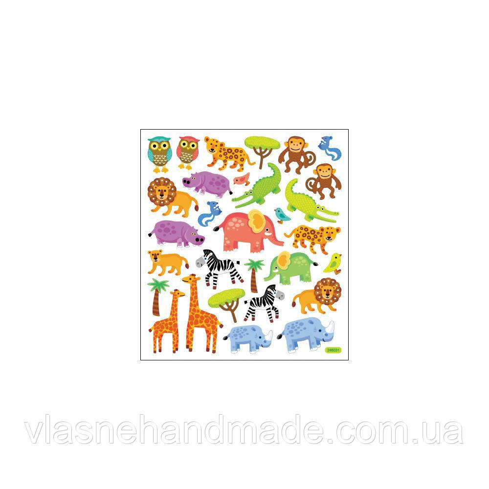 Наклейки на плівці - Jungle Animals - StackerKing - 15х16,5