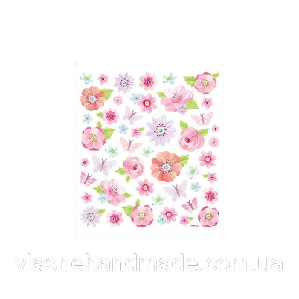 Наклейки паперові з глітером - Pink Peonies - StackerKing - 15х16,5