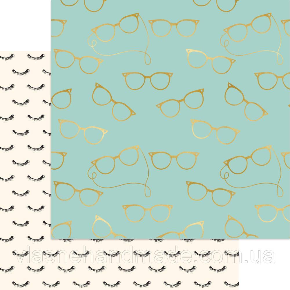 Папір двосторонній з фольгуванням - Girls In Glasses - Gal Meets Glam - MME - 30х30
