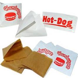 Пакет бумажный для хот догов и бургеров