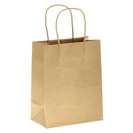 Пакеты бумажные с прямоугольным дном и ручками