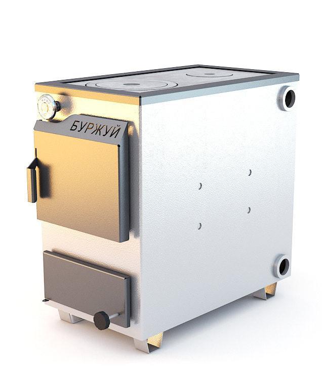 Буржуй КП-18 кВт - котел твердотопливный с чугунной плитой для помещений до 180 м.кв.
