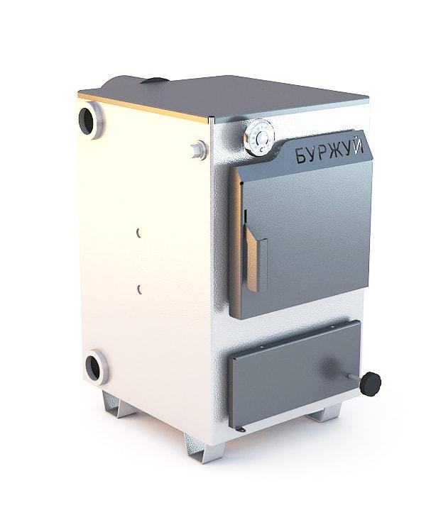 Буржуй К-15кВт - котел твердотопливный для помещений до 150 м.кв.