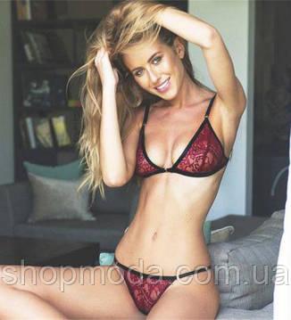 Сексуальный женский комплект бордовый, фото 2