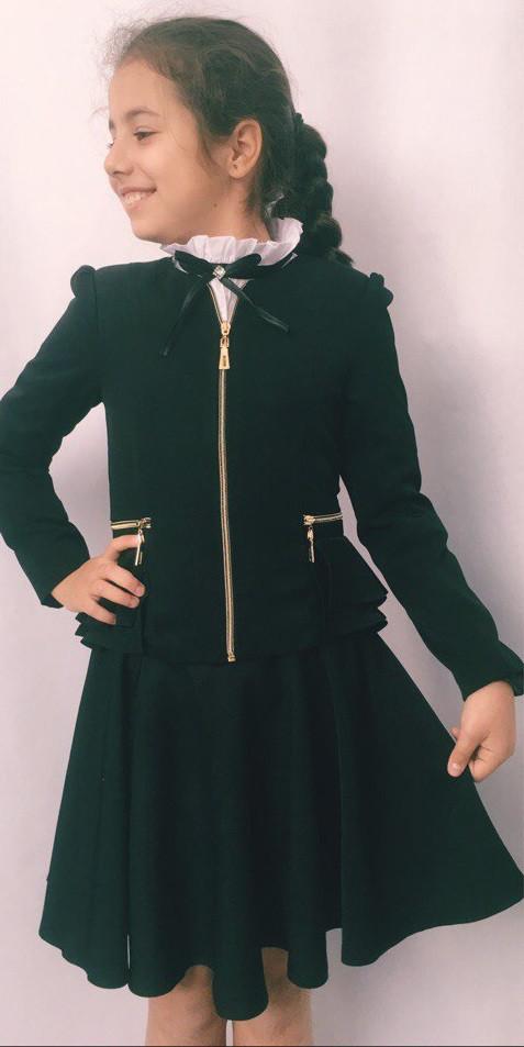 Школьный стильный пиджак на девочку