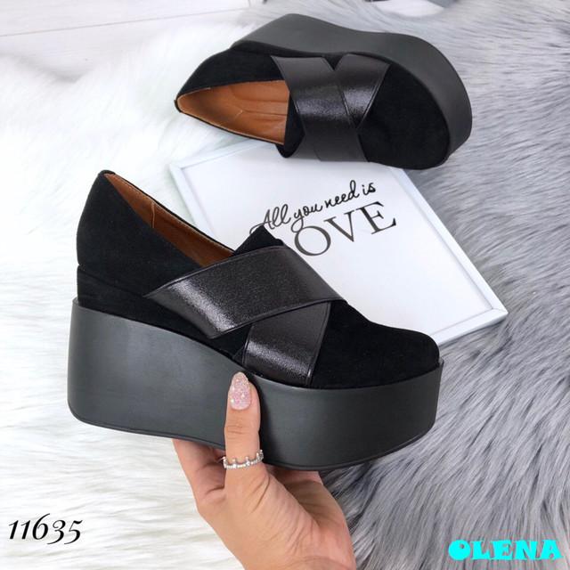 Описание Натуральная кожаная обувь Туфли   Gattinoni  , цвет  Черный,  материал  НАТУР. ЗАМШ (пошив под заказ), d585d0843d0