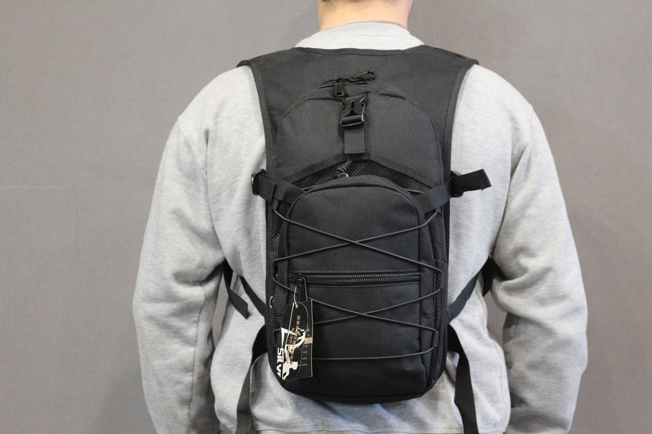 Тактический (городской) рюкзак Oxford 600D с системой M.O.L.L.E Black (303 черный)