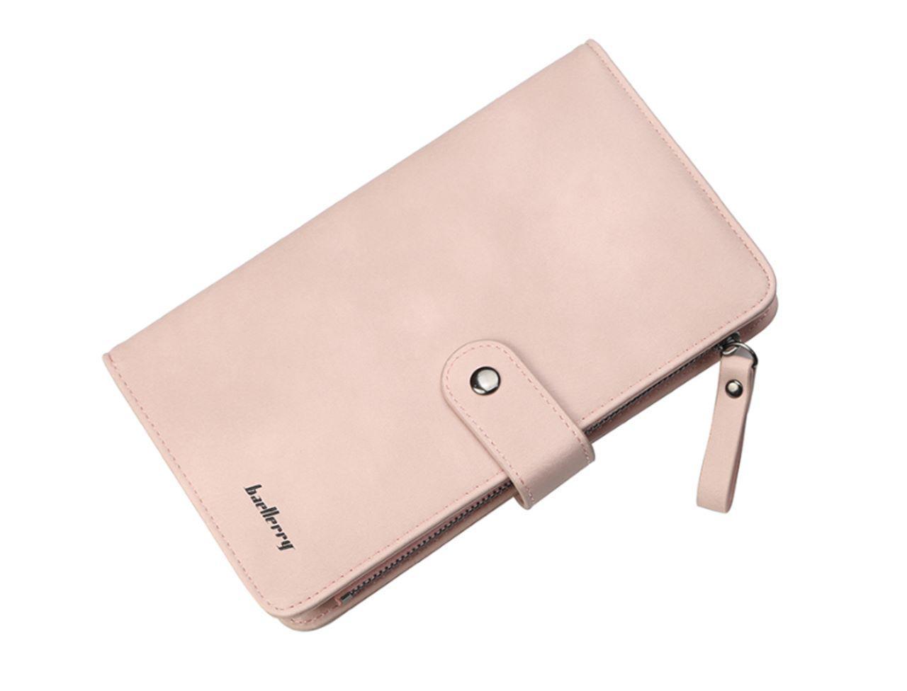 Женский кошелек BAELLERRY New Fashion Women Wallet кожаное портмоне Розовый (SUN1665)