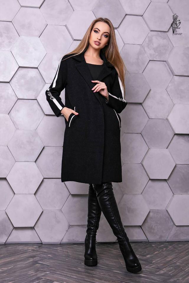 Черный цвет Женского кашемирового кардигана Канти