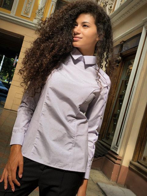 Рубашка женская котоновая с выточками (К23934)