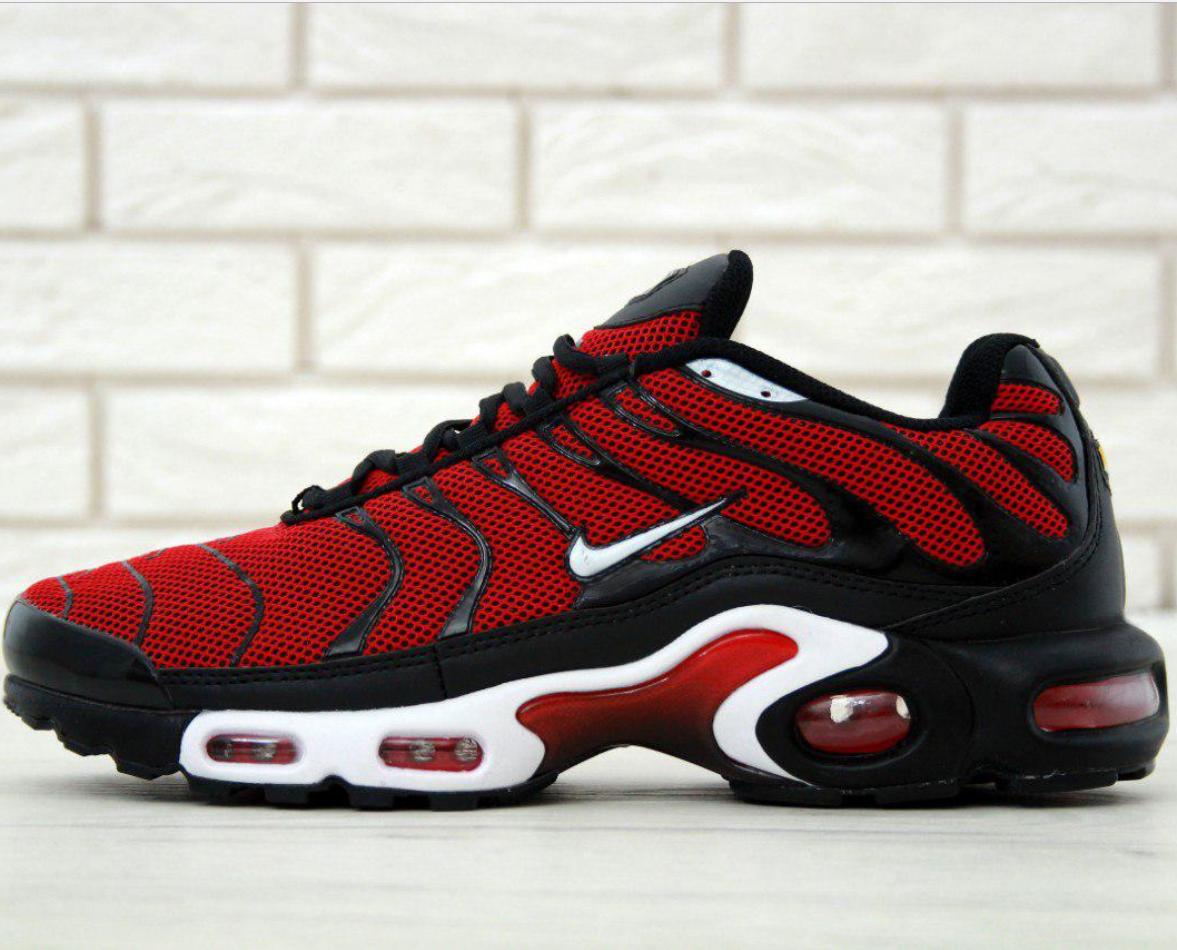 bc7cbc70 Мужские кроссовки Nike Air Max Tn Plus Red Black - интернет-магазин обуви  «Walking