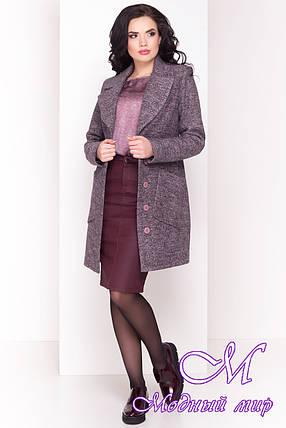 Женское шерстяное осеннее пальто (р. S, M, L) арт. Габриэлла 4419 - 33767, фото 2