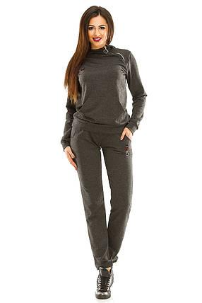 Женский спортивный костюм 434 темно-серый 42-44, фото 2