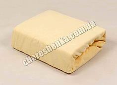 Махровая простынь с резинкой по периметру (160*200) желтая