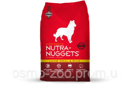 Сухой корм Нутра Наггетс (Nutra Nuggets Lamb Meal & rice) для собак, 15 кг